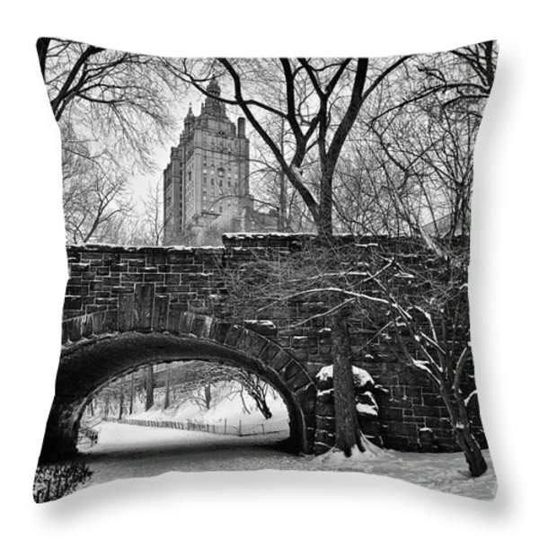 Central Park And The San Remo Building Throw Pillow by John Farnan