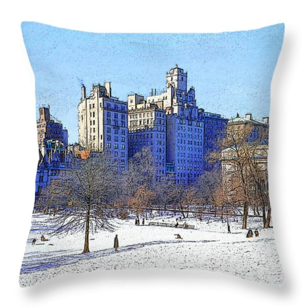 Central Park Throw Pillow by Chuck Staley