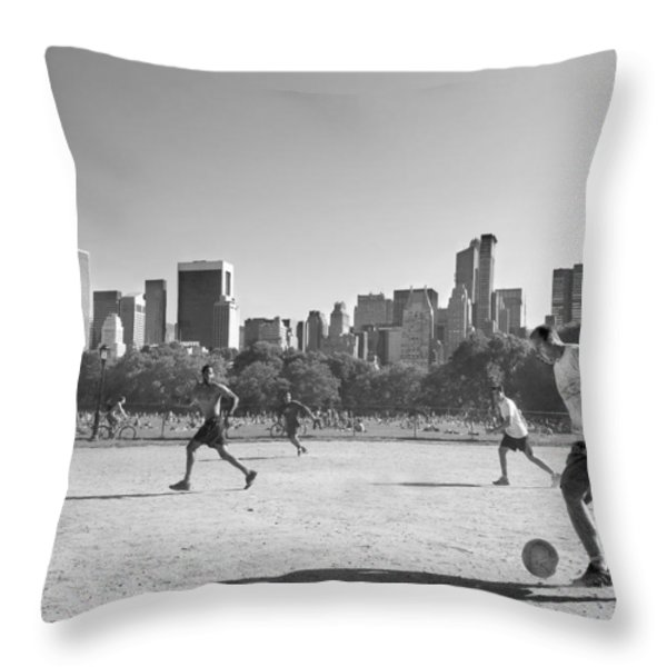 Central Park Throw Pillow by Robert Lacy
