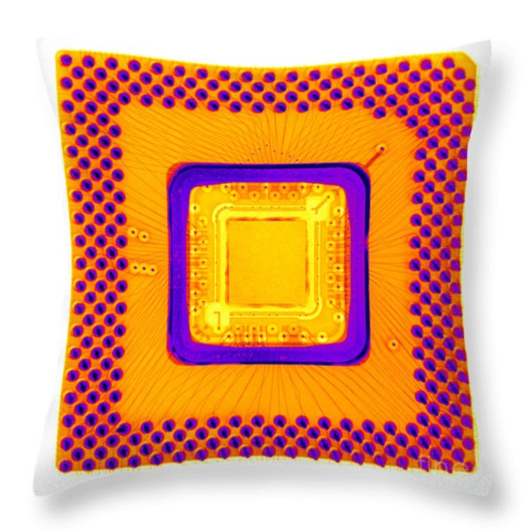 Central Processor Throw Pillow by Ted Kinsman