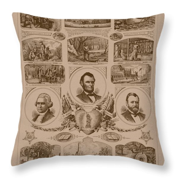 Chain Of Events In American History Throw Pillow by War Is Hell Store