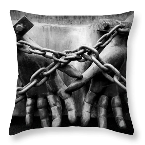 Chains Throw Pillow by Fabrizio Troiani