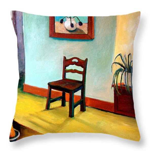 Chair and Pears Interior Throw Pillow by Michelle Calkins