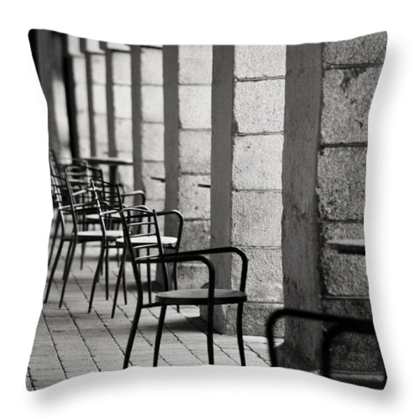 Chairs And Pillars  Throw Pillow by Marcio Faustino