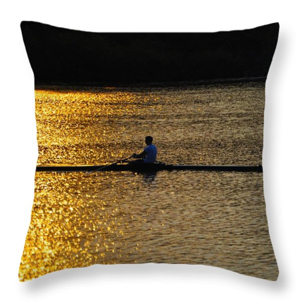 Challenge Yourself Throw Pillow by Bill Cannon