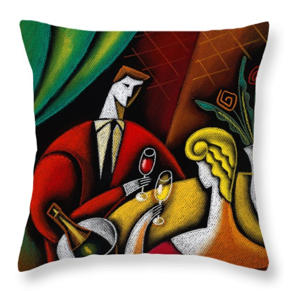 Champagne and Love Throw Pillow by Leon Zernitsky