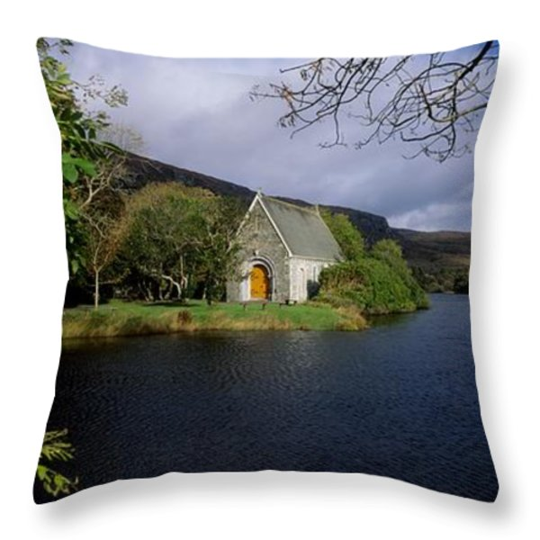 Chapel At Gougane Barra, Co Cork Throw Pillow by The Irish Image Collection
