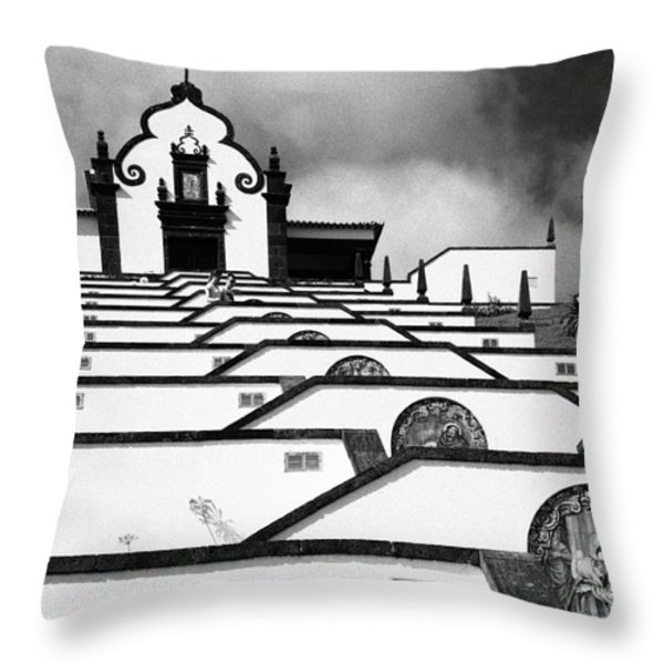 Chapel In Azores Throw Pillow by Gaspar Avila