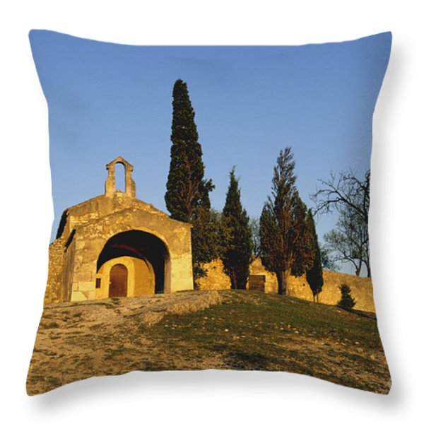 Chapelle d'Eygalieres en Provence. Throw Pillow by BERNARD JAUBERT