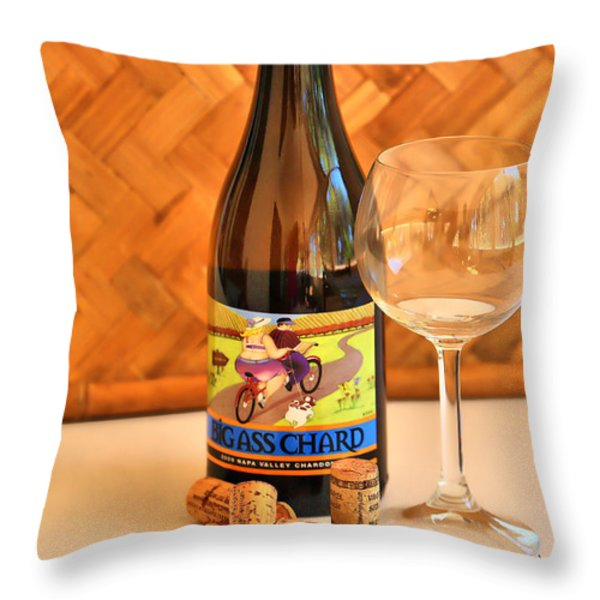Chard Time Throw Pillow by Cheryl Young