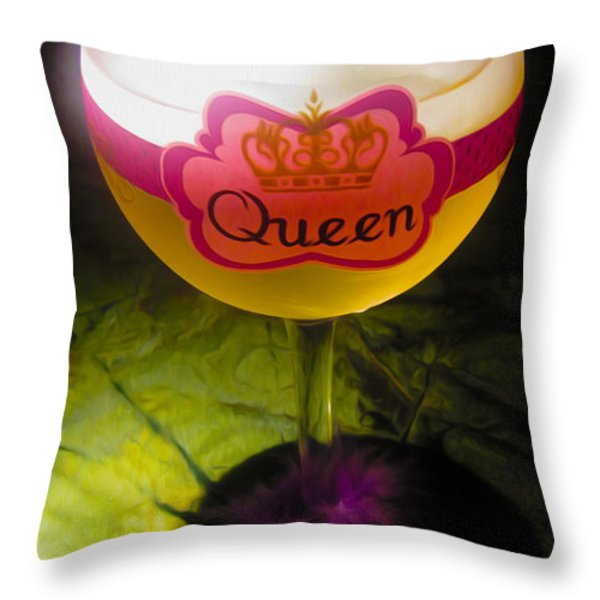 Chardonnay Queen Throw Pillow by Cheryl Young