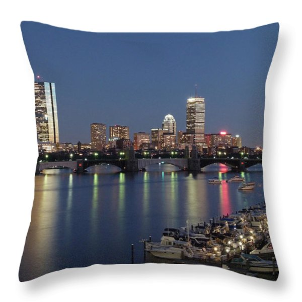 Charles River Yacht Club Throw Pillow by Juergen Roth