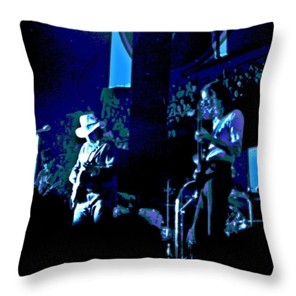 Charlie Daniels Winterland Blues 1975 Throw Pillow by Ben Upham