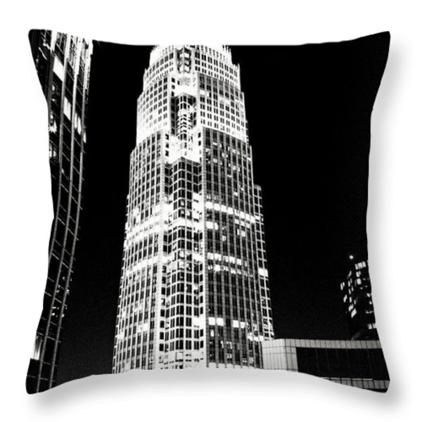 Charlotte North Carolina Bank of America Building Throw Pillow by Kim Fearheiley