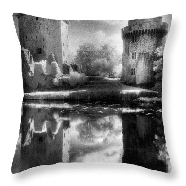 Chateau De Largoet Throw Pillow by Simon Marsden