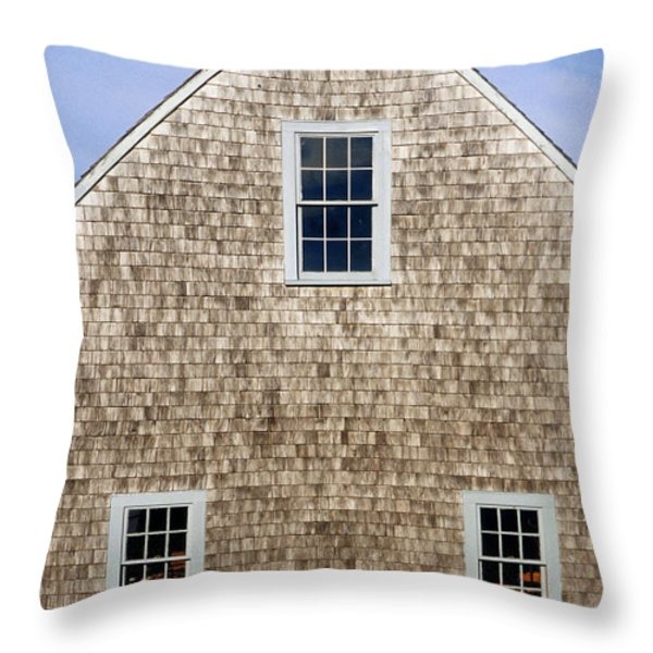 Chatham Boathouse Throw Pillow by John Greim