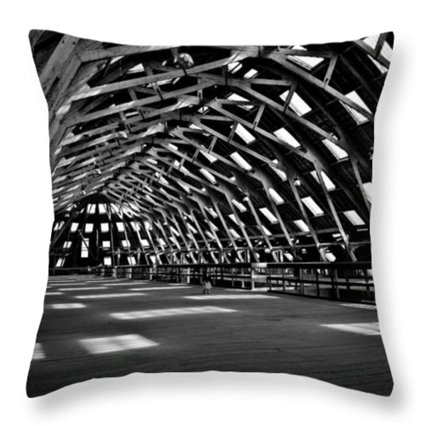 Chatham Dockyard Covered Slip No3 Throw Pillow by Dawn OConnor