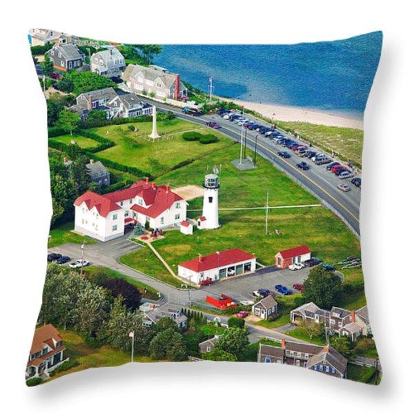 Chatham Lighthouse Cape Cod Massachusetts Throw Pillow by Matt Suess