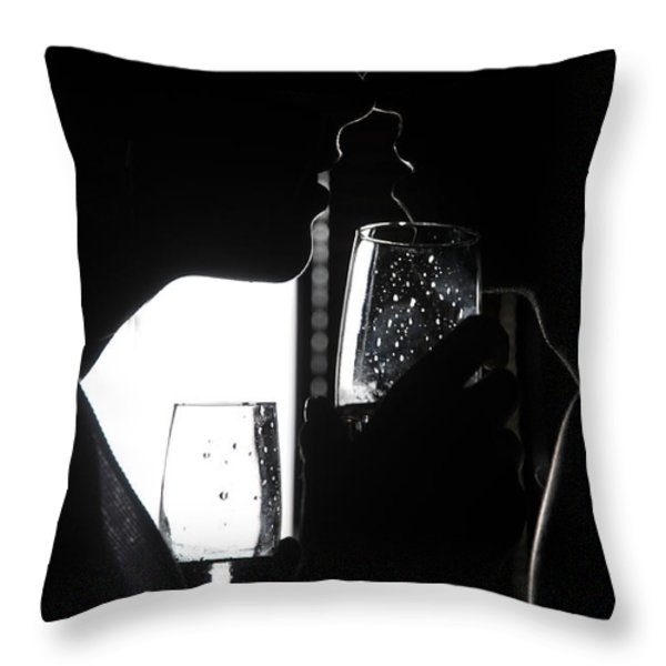 Cheers Before The Kiss Throw Pillow by Jenny Rainbow
