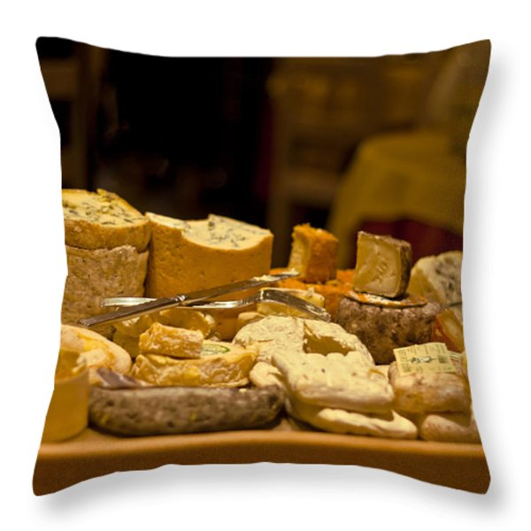 Cheese Selection Throw Pillow by Nomad Art And  Design