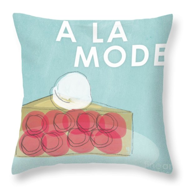 Cherry Pie A La Mode Throw Pillow by Linda Woods