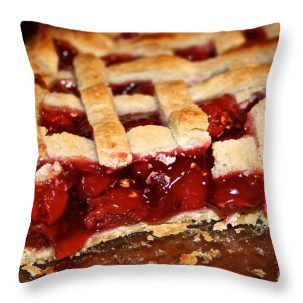 Cherry Throw Pillow by Susan Herber