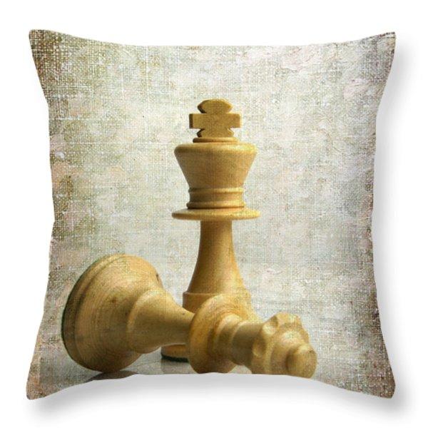 Chess pieces Throw Pillow by BERNARD JAUBERT