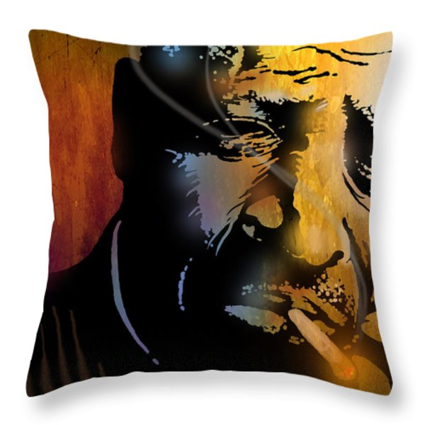 Chester Burnett Throw Pillow by Paul Sachtleben