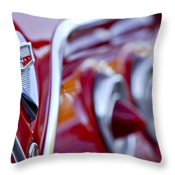 Chevrolet Impala Emblem Throw Pillow by Jill Reger