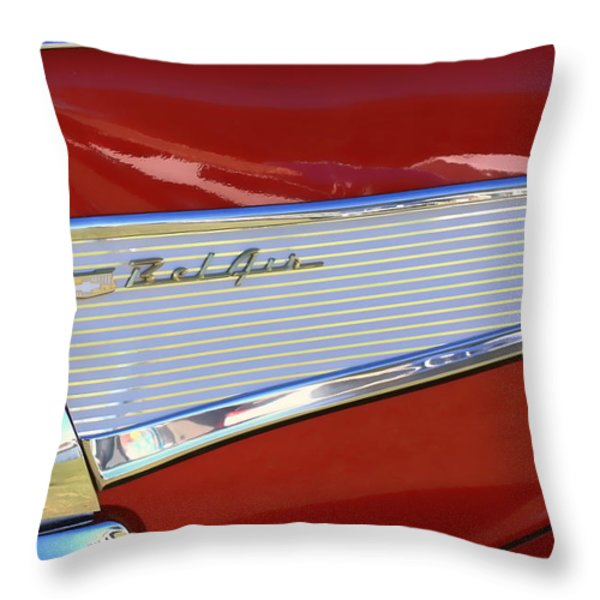 Chevy Lines Throw Pillow by Dorothy Menera