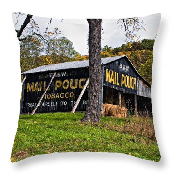 Chew Mail Pouch Throw Pillow by Steve Harrington