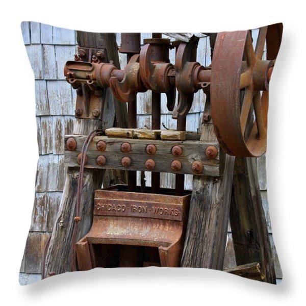 Chicago Iron Works Throw Pillow by Karon Melillo DeVega