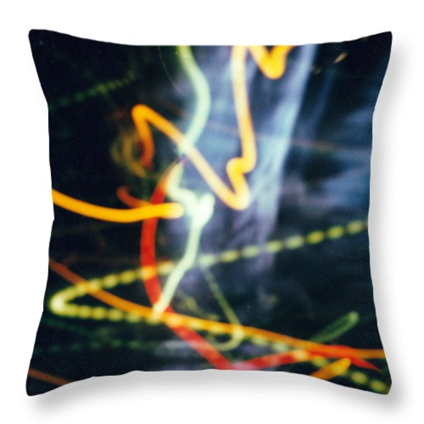 Chicago lights 2 Throw Pillow by JC Armbruster