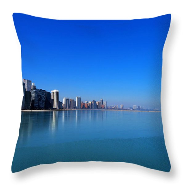 Chicago Skyline Throw Pillow by Paul Ge
