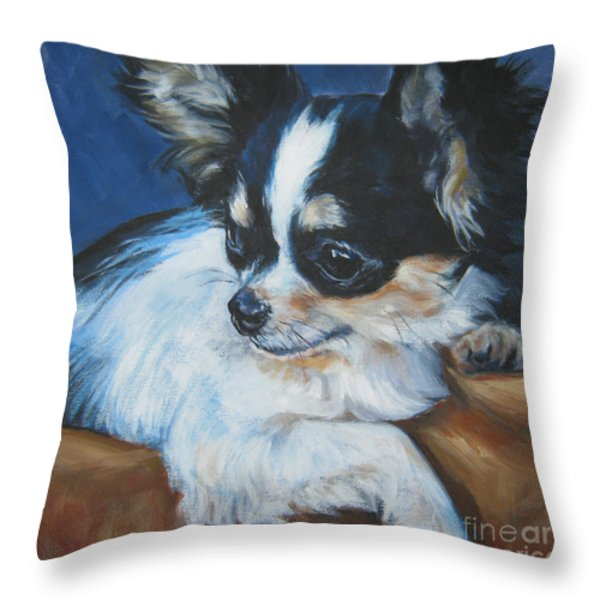 Chihuahua Throw Pillow by Lee Ann Shepard