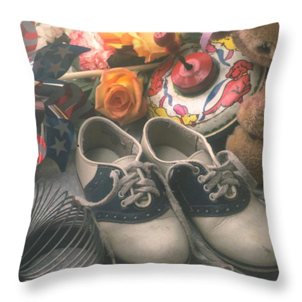 Childhood memories Throw Pillow by Garry Gay