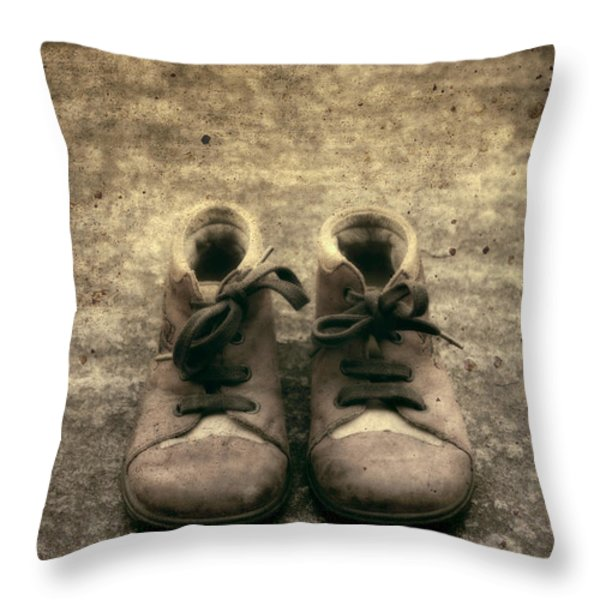 Children's Shoes Throw Pillow by Joana Kruse