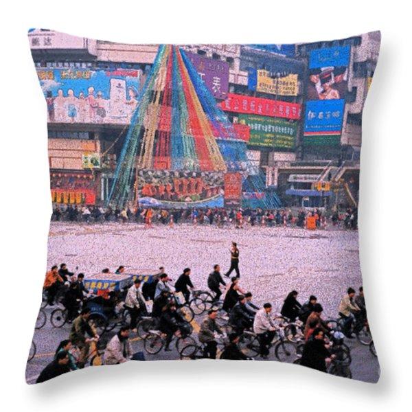 China Chengdu Morning Throw Pillow by First Star Art
