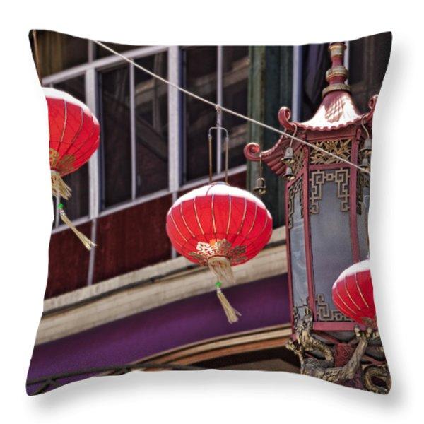 China Town San Francisco Throw Pillow by Kelley King