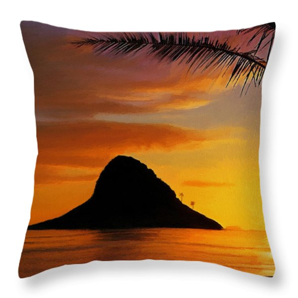 Chinaman's Hat Island Throw Pillow by Dale Jackson