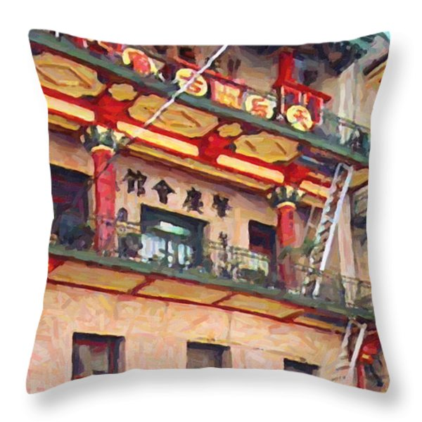 Chinatown Throw Pillow by Wingsdomain Art and Photography