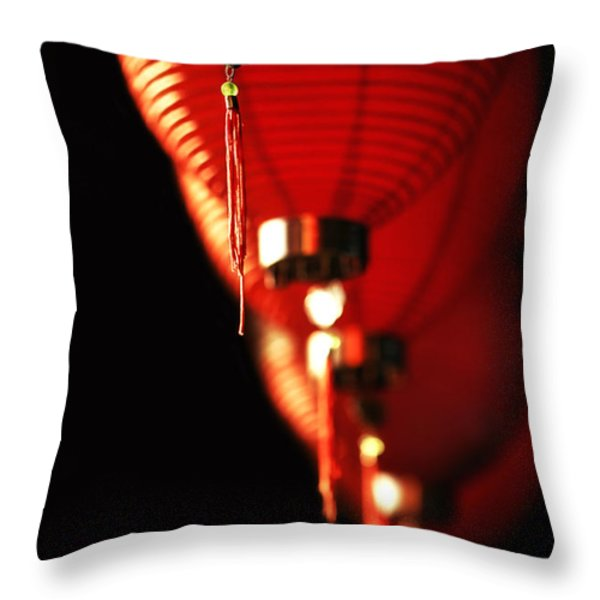 Chinese Whispers Throw Pillow by Evelina Kremsdorf