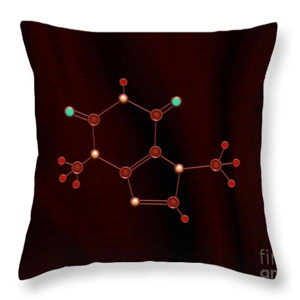 Chocolate Molecule Throw Pillow by Pet Serrano