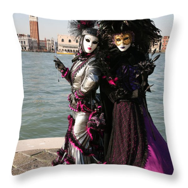 Christine and Gunilla Across St. Mark's  Throw Pillow by Donna Corless