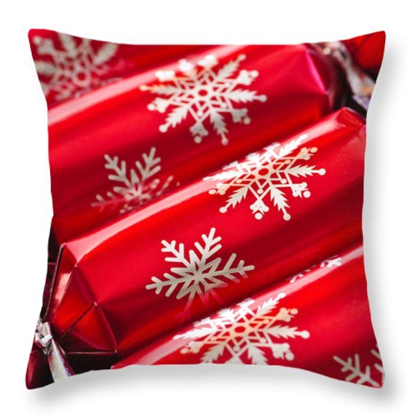 Christmas Crackers Throw Pillow by Elena Elisseeva