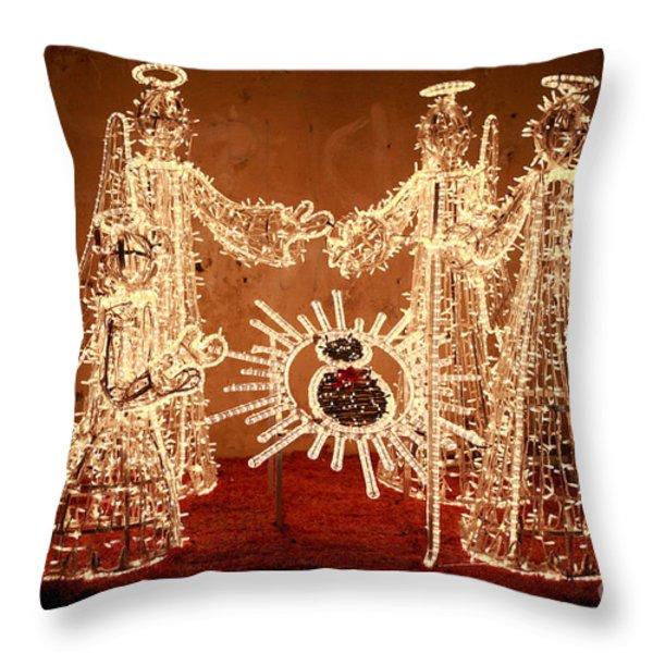 Christmas Scene Throw Pillow by Gaspar Avila