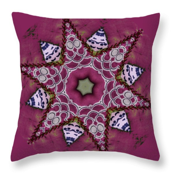 Christmas Star Throw Pillow by Bonnie Bruno