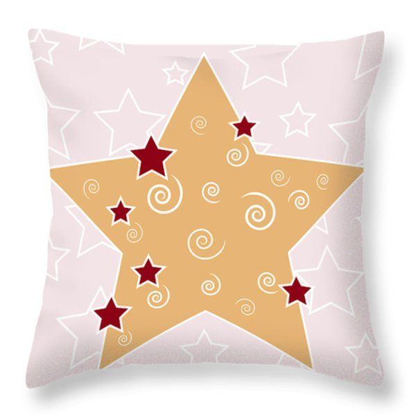 Christmas Star Throw Pillow by Frank Tschakert