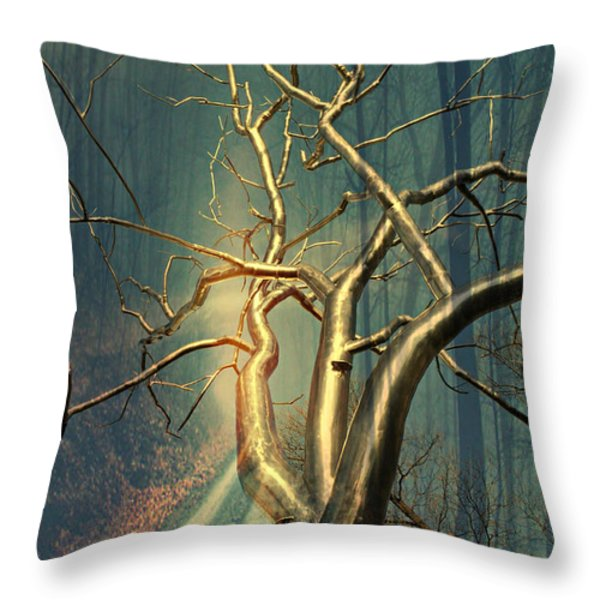 Chrome Forest Throw Pillow by Marty Koch