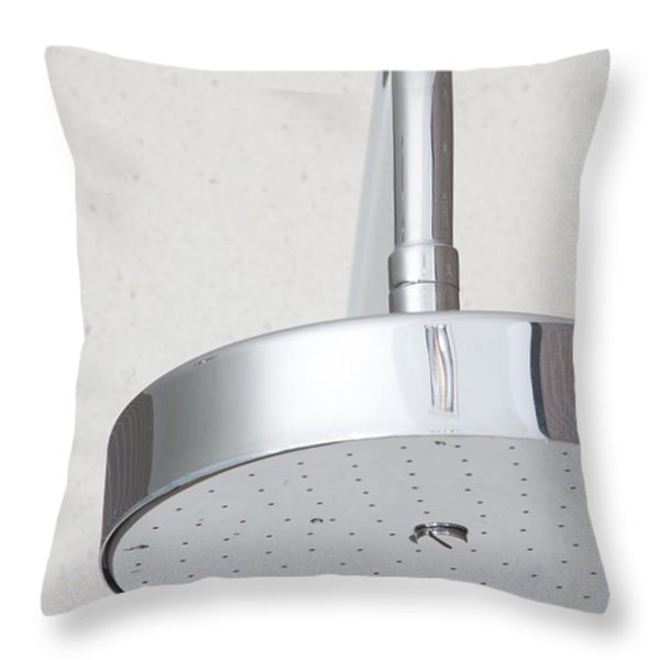 chrome shower head Throw Pillow by ATIKETTA SANGASAENG